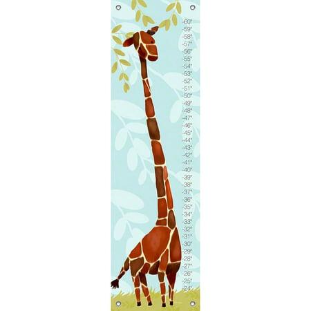 Oopsy Daisy - Growth Chart Gillespie Giraffe - Blue 12x42 By Meghann -