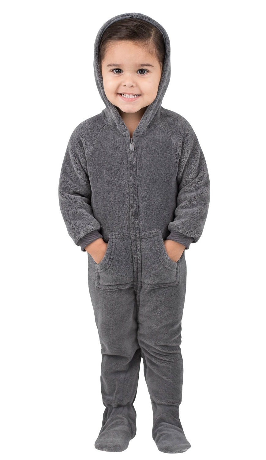 Howling Moon Kids Hoodie Chenille Onesie Footed Pajamas