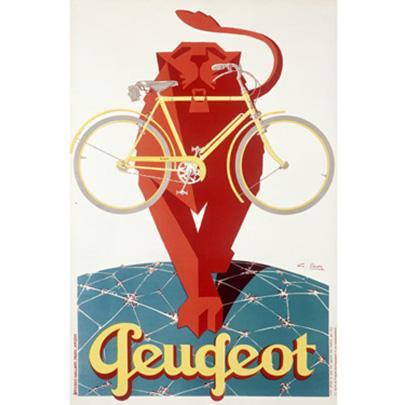 Peugeot Bicycle - ArteHouse Fine Art Print