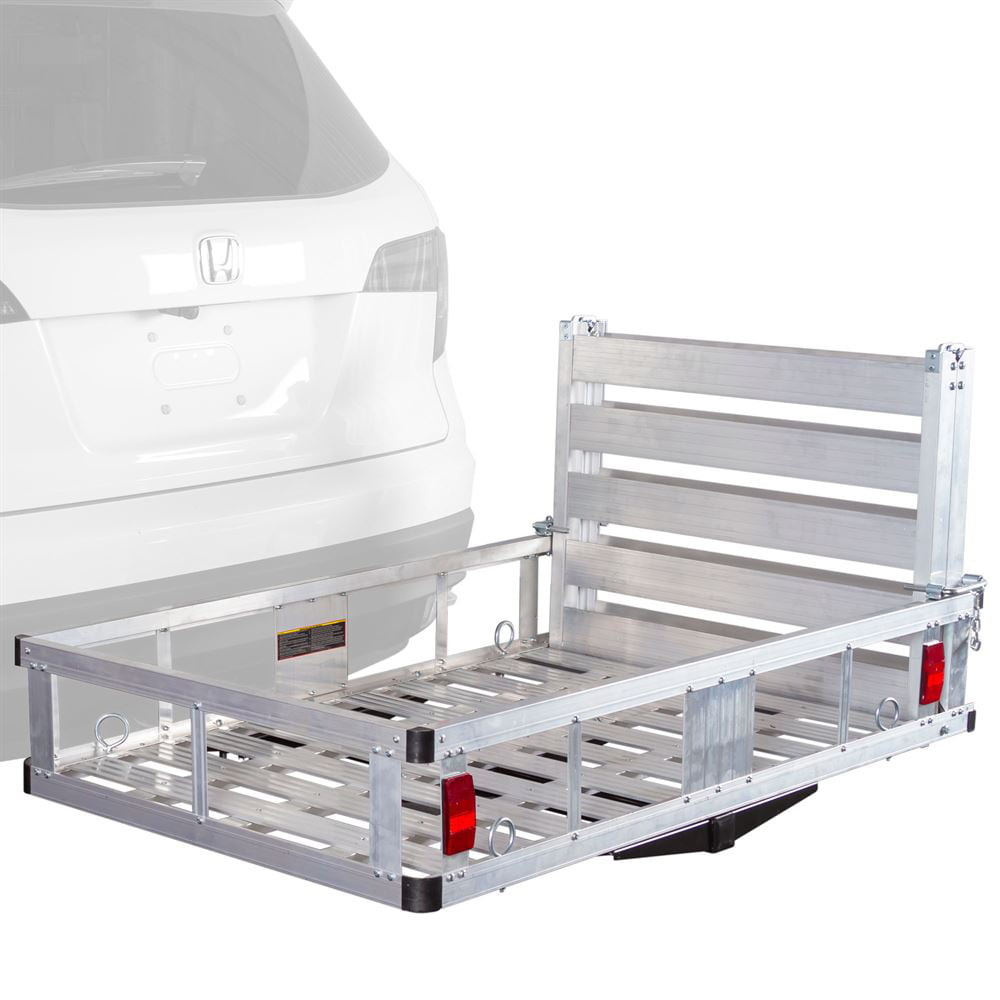 "Apex Deluxe Aluminum Hitch Utility Cargo Carrier with Ramp for Class III and IV 2"" Receivers by Apex"