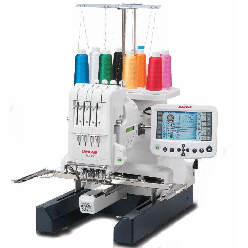 Janome MB-4S Four Needle Embroidery Machine with Bonus Bundle
