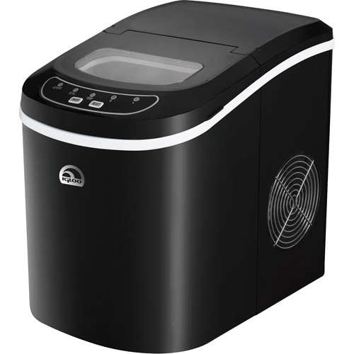 Igloo Compact Ice Maker ICE101 - Black, 26lb Daily Production