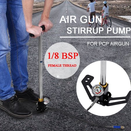 Airgun Pcp Pump High Pressure Hand Pump Stirrup Charging Gas Filter Gauge Valve Hose Pcp Pump Up To 4500 Psi