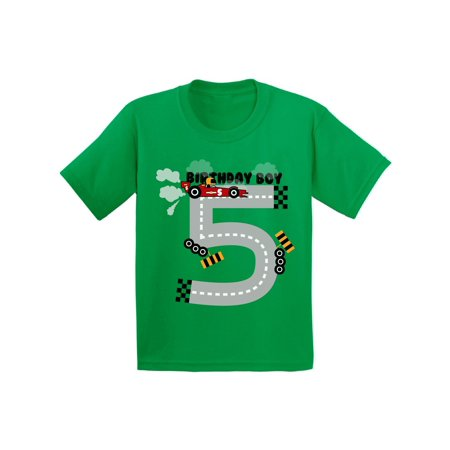 Awkward Styles Birthday Boy Race Car Youth Shirt Race Car Birthday Party for Boys Funny Birthday Gifts for 5 Year Old 5th Birthday T Shirt Fifth Birthday Outfit Race Car Tshirt for Birthday Boy - Christmas Gifts For 5 Year Old Boy