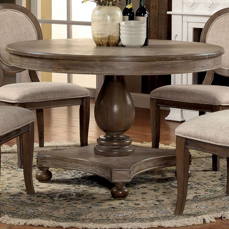 Furniture Of America Lelan Traditional Rustic Round Inch Dining - 48 inch oval dining table