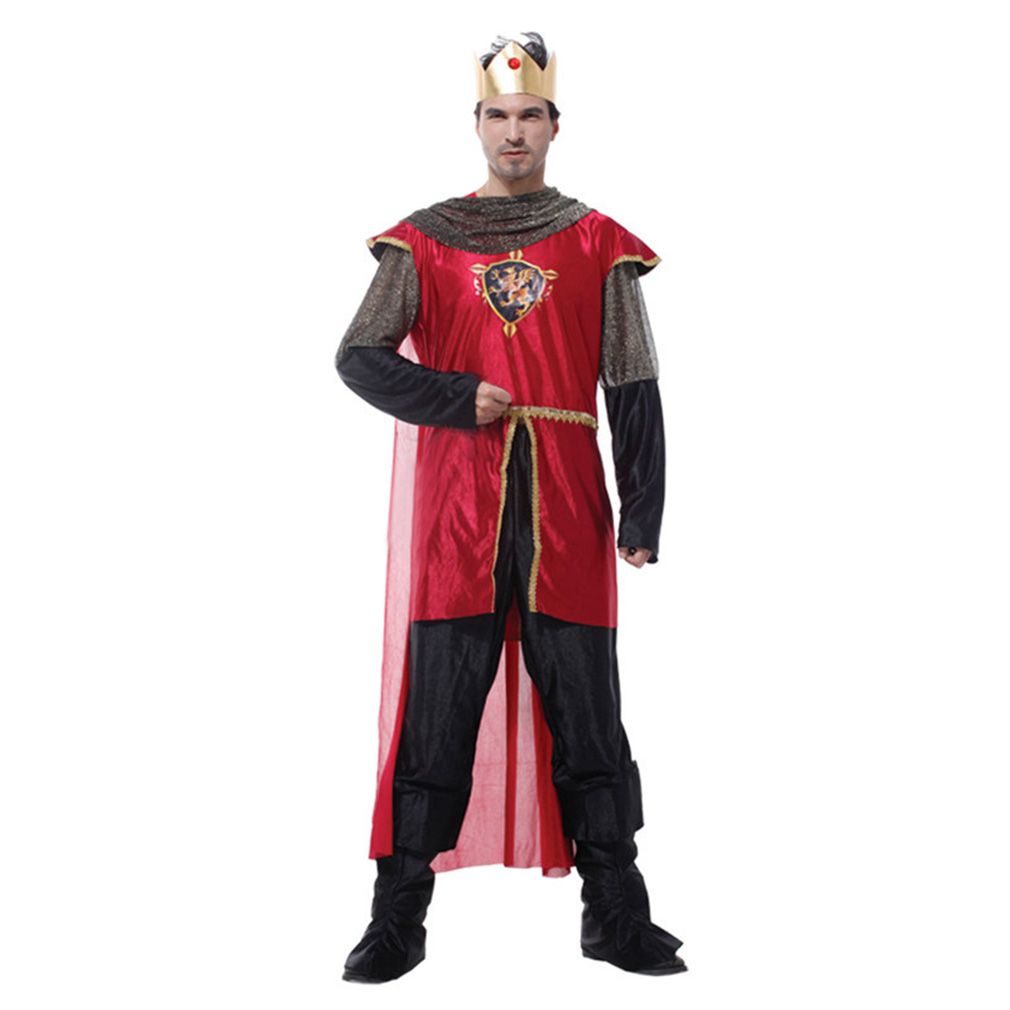 Men's Honorable King Costume Set Halloween party, S