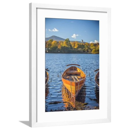 UK, England, Cumbria, Lake District, Derwentwater, Keswick, Rowing Boats for hire Framed Print Wall Art By Alan Copson ()