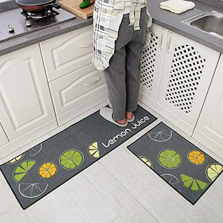 Home Cal Kitchen Non Slip Mat Rubber Backing Machine Washable Area