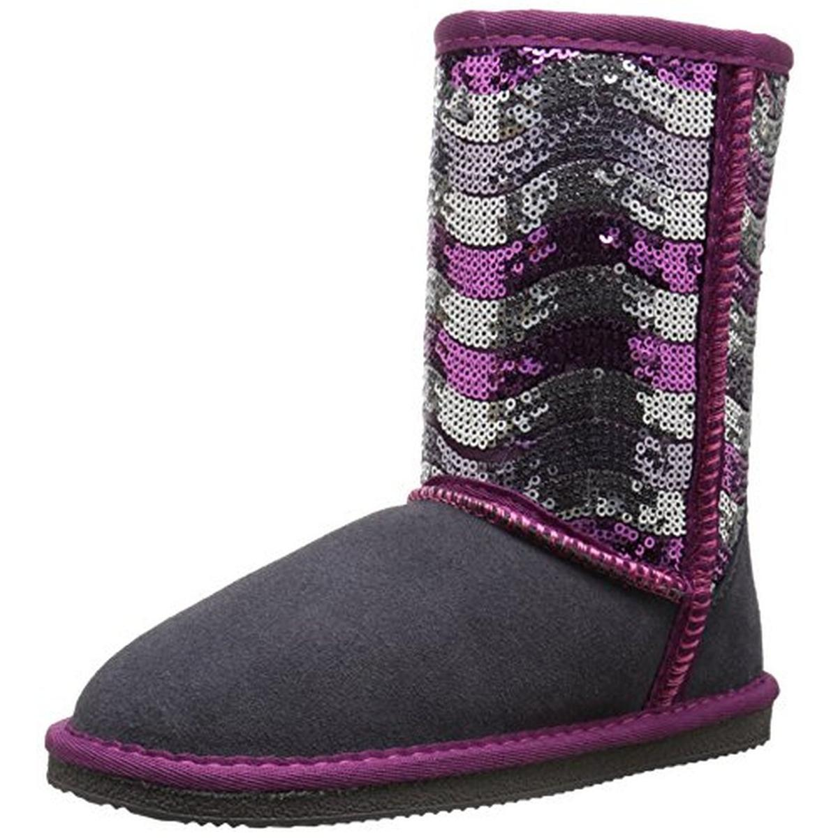 Lamo Girls Stripy Suede Casual Boots by Lamo