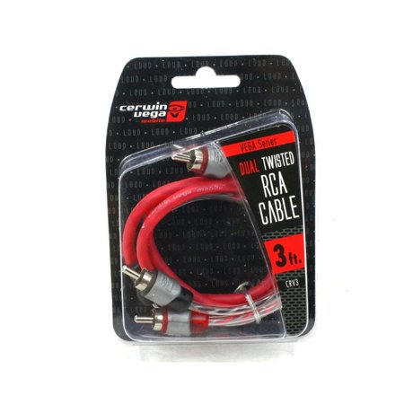 Cable Molded Ends - 2-channel 3 Foot Dual Molded Ends Cable Rca Stereo Cable Rca Audio  - Red