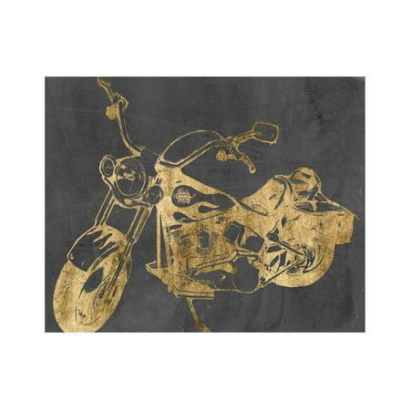 Motorcycle Bling II Print Wall Art By Jennifer Goldberger