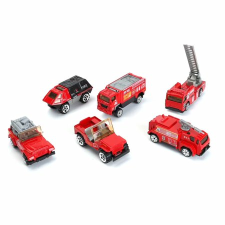 Set Model Engine (Mini Rescue Fire Engine Emergency Truck Model Toy Set Vehicle Models with)