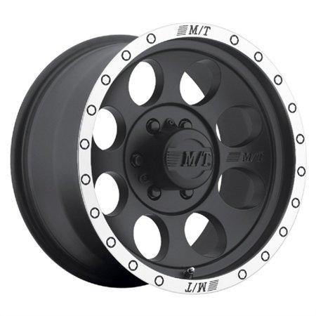 - Mickey Thompson Tires Classic Baja Lock Matte Black Wheel with Machined Finish (17x9