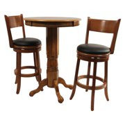 Boraam Palmetto 3 Piece Pub Table Set Fruitwood by Pub Tables