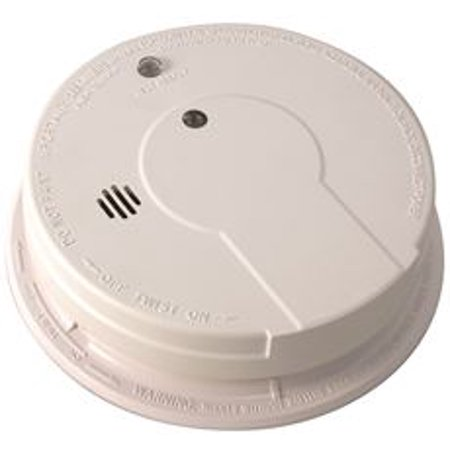 SENTINEL HARD-WIRED SMOKE DETECTOR WITH 9-VOLT BATTERY BACKUP, 120 VOLTS