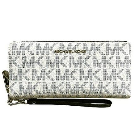 Michael Kors Jet Set Travel Monogram Zip Around Travel Wallet Wristlet ()