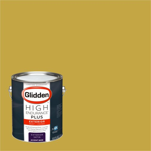 Glidden High Endurance Plus Exterior Paint and Primer, Pirate Gold , #45YY 43/536