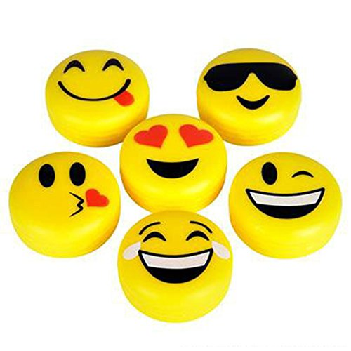 Emoji Lip Gloss For Kids - Six (6) Pieces Feature Emoticon Themed Lip Balms with Six Unique Designs - Great For Gifts Classrooms and Birthday Party Favors - By M & M Products Online - image 1 de 1