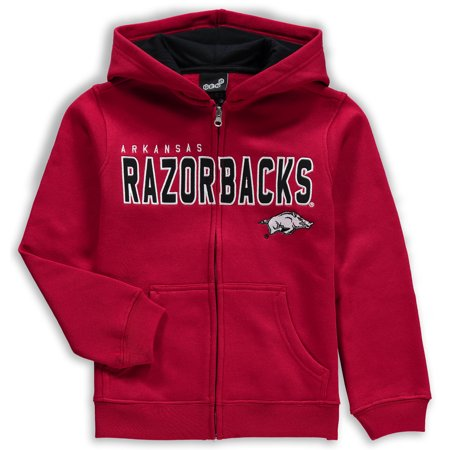 Arkansas Razorbacks Youth Stated Full-Zip Hoodie - Cardinal