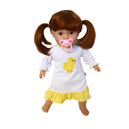 My Brittany's Chick Nightgown Fits My Tiny Tots and Bitty Baby Dolls- 15 Inch Doll Clothes Sheer Baby Doll Nightie