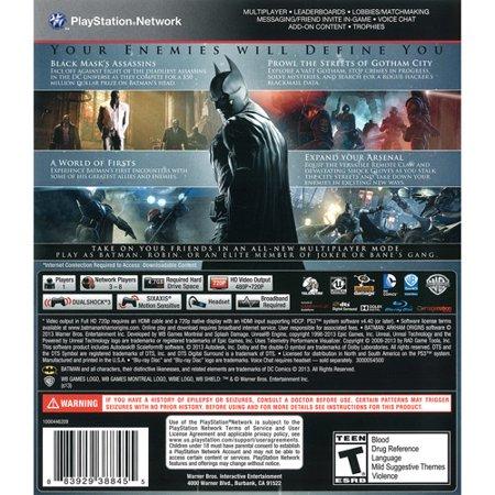 Playstation 3 Video Game (Warner Bros. Batman: Arkham Origins (PS3))