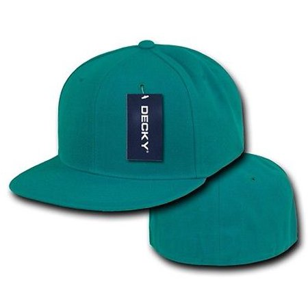 Aqua Blue Fitted Flat Bill Plain Solid Blank Baseball Ball Cap Caps Hat Hats  - Walmart.com dec178da0ab