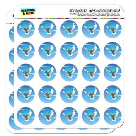 """Dove Bird Flying In the Sky 1"""" Planner Calendar Scrapbooking Crafting Opaque Stickers"""