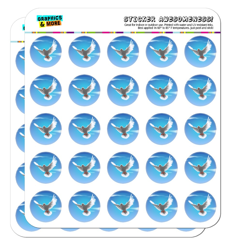 "Dove Bird Flying In the Sky 1"" Planner Calendar Scrapbooking Crafting Opaque Stickers"
