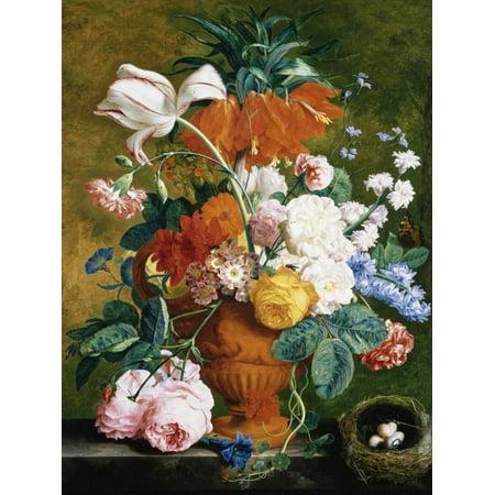 e9ff4a4f A Vase of Rich Summer Flowers Print Wall Art By Jan van Huysum ...