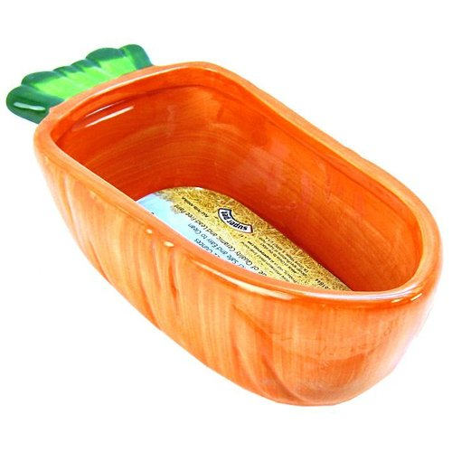 Super Pet Veg-T-Bowl - Carrot 7.5 Inch Long - Holds 22 Ounce