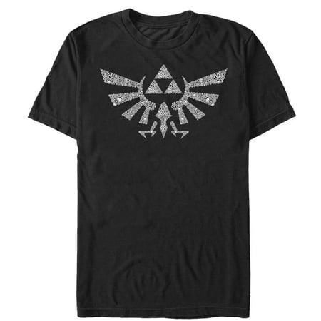Nintendo Men's Legend of Zelda Hylian Crest Hidden Pattern T-Shirt - Legends Of The Hidden Temple Shirts