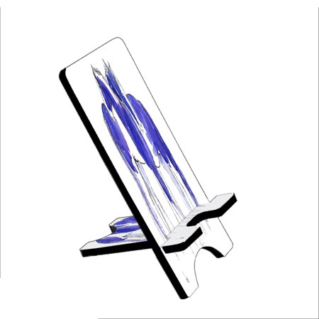 Piebald Gypsy Cobs In Purple And Blue Abstract Horse Art By Denise Every   Kuzmark Folding Stand Fits Ipad Mini Iphone Samsung Galaxy