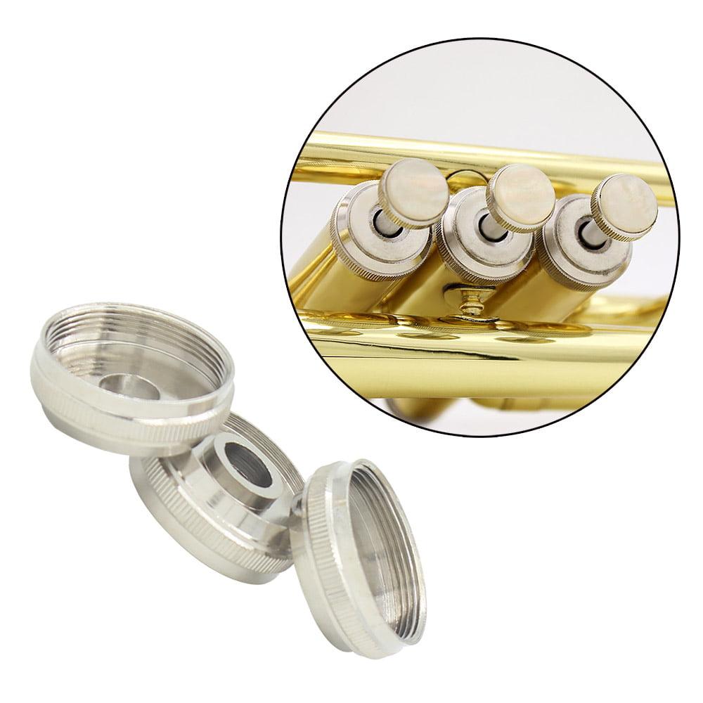 3pcs Trumpet Key Buttom Piston Valve Cap Screw Copper Accessories Part