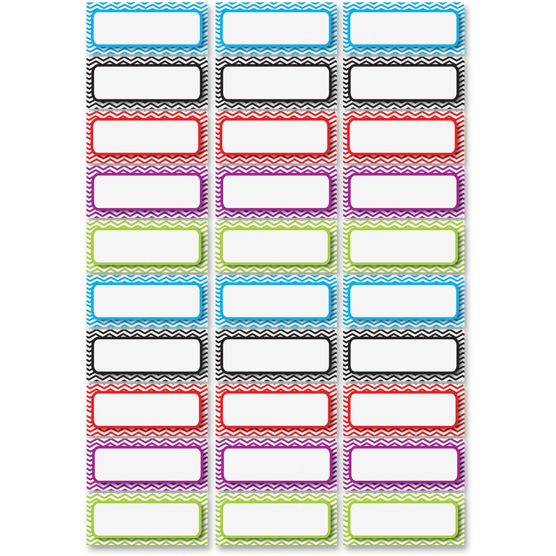 Ashley Dry Erase Chevron Nameplate Magnets, Multicolor, 1 Pack (Quantity) by Ashley Productions, Inc