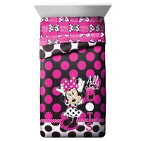 Disney Minnie Mouse Kids Twin Size Comforter Blanket Reversible Dots