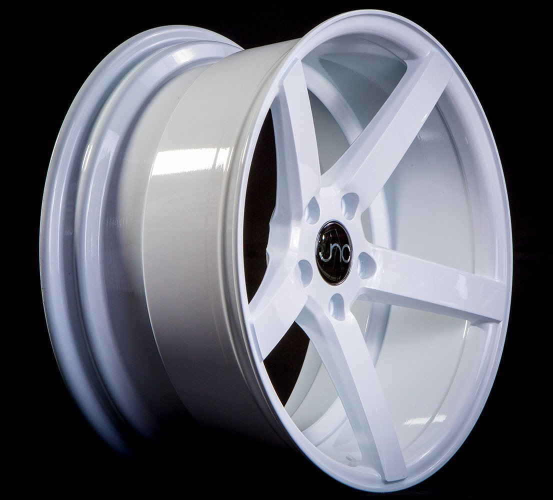 JNC 026 White 18x10 5x114.3 ET25 Offset Wheel Rim