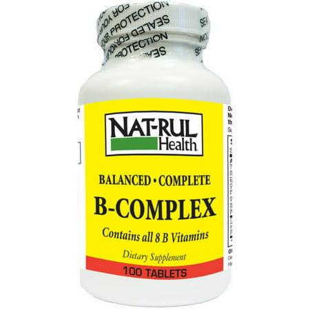 Nat-Rul Vitamin B-Complex Tablets 100 ea