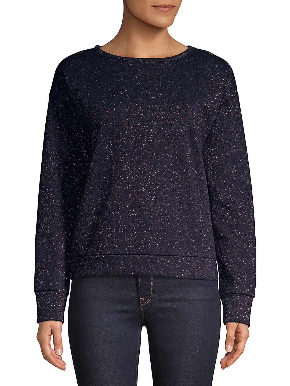 Sparkling Speckled Cotton Sweatshirt