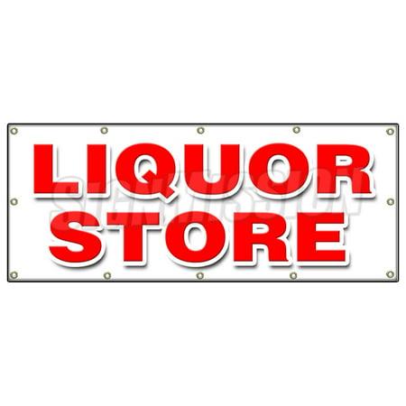 48 X120  Liquor Store Banner Sign Cold Beer Malt Huge Selection Cigarettes Ice