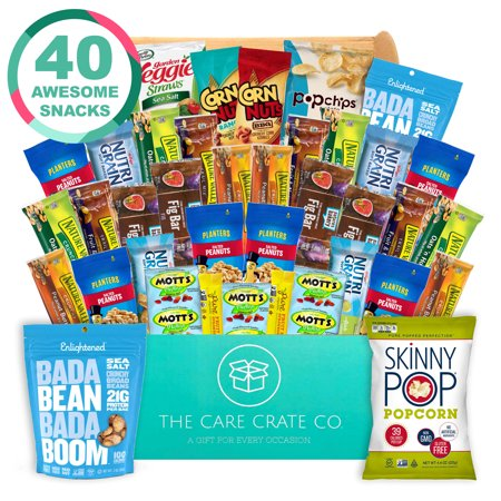 Care Crate Gluten Free Healthy Snacks Variety Pack - Low Carb, Vegan treats for Adults and Kids - Organic, Dairy Free, Keto and Paleo Options - Assorted 40 Pack Gift Box (Diary Free Snacks)