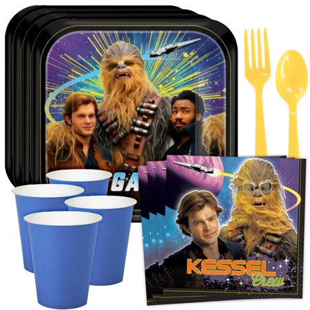 Star Wars Party Supplies Clearance (Star Wars Hans Solo Standard Tableware Kit (Serves)