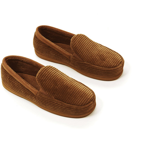 Dearfoams - Men's Cord Moccasin Slippers
