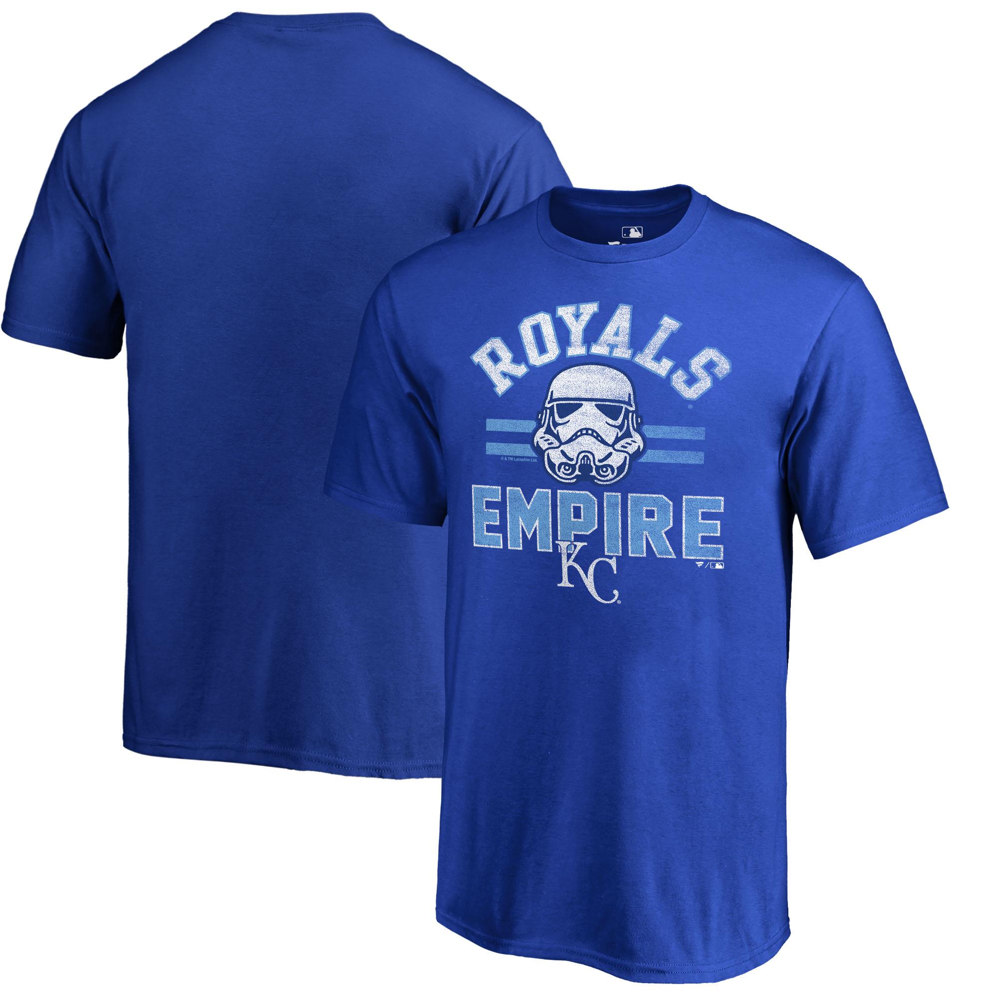 Kansas City Royals Fanatics Branded Youth MLB Star Wars Empire T-Shirt - Royal