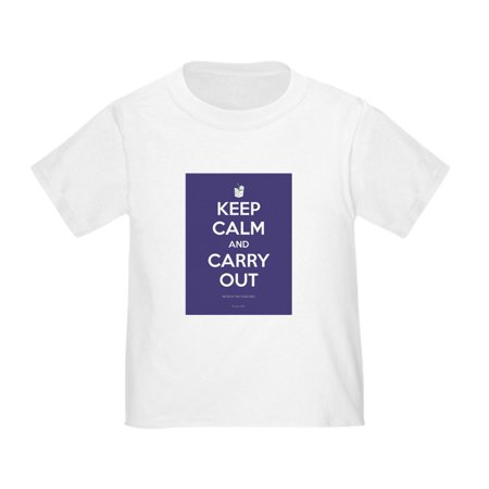 CafePress - Keep Calm And Carry Out T Shirt - Cute Toddler T-Shirt, 100%