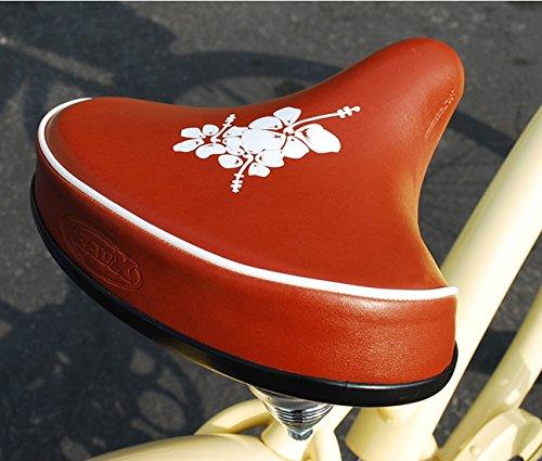"Beach Cruiser Bicycle Bike Saddle Seat white 10 1//4/"" x 10 1//2/"""