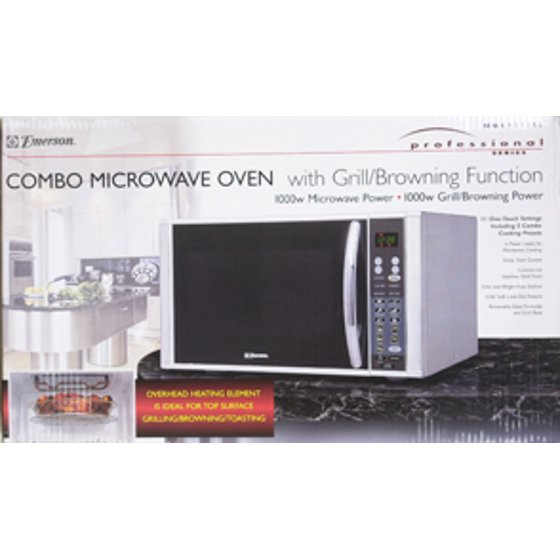Emerson 1 Cu Ft 1000 Watt Stainless Steel Microwave Oven With Grill