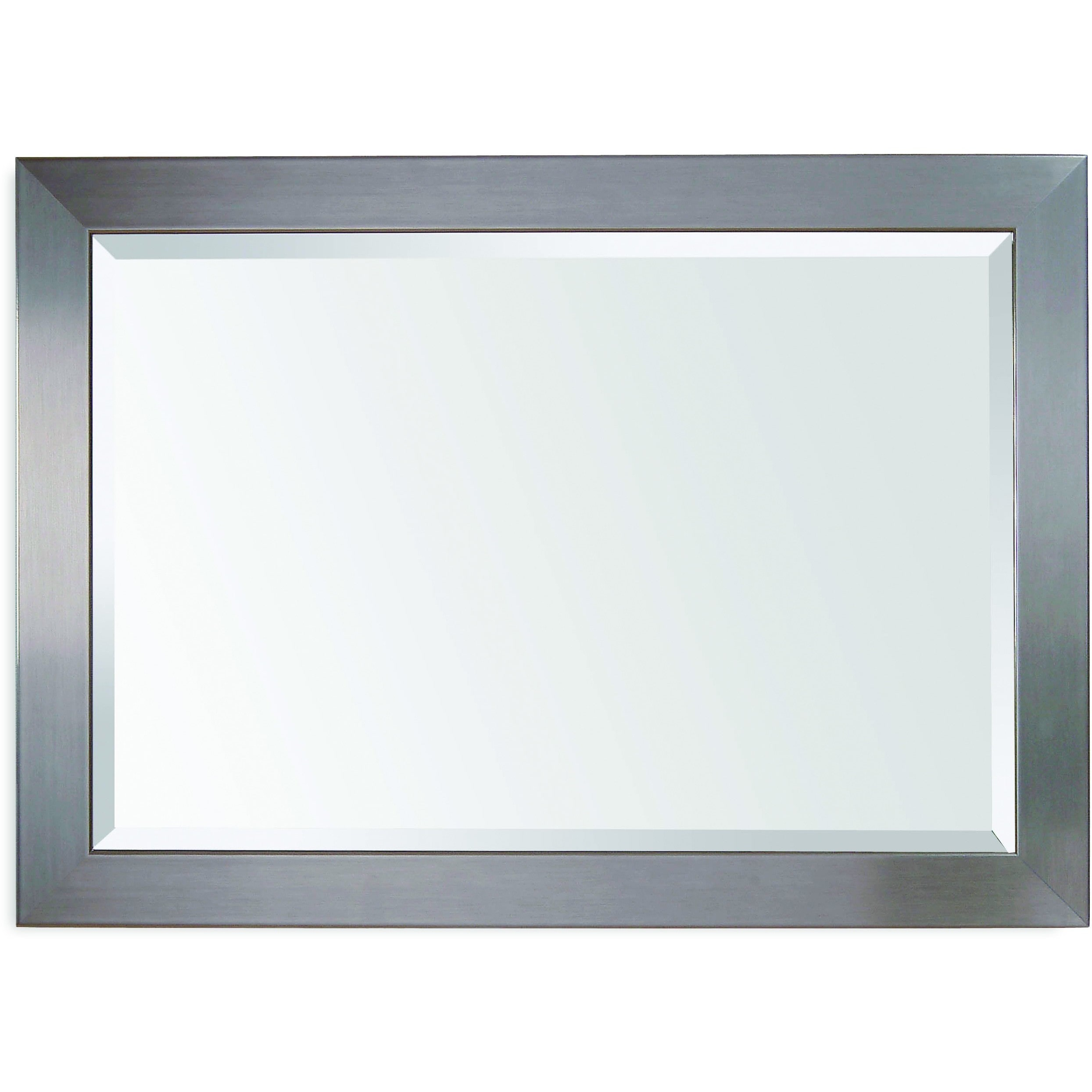 Bassett Mirror Company Stainless Silver Wall Mirror by Bassett Mirror