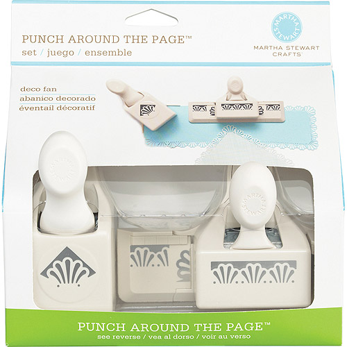 Martha Stewart Crafts Punch Around the Page Combo, Deco Shells