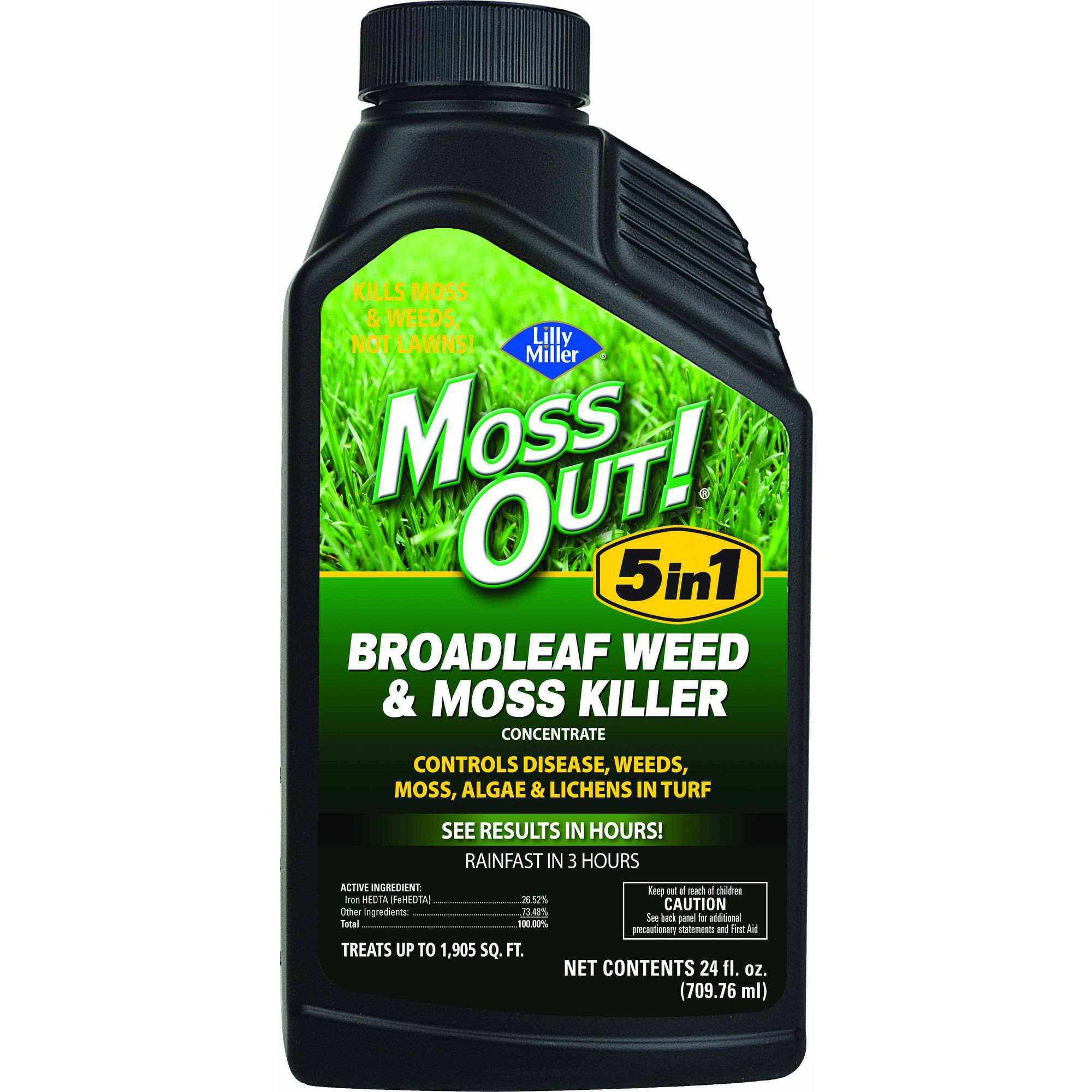 Lilly Miller Moss Out! Concentrate Liquid for Broadleaf Weed and Moss Moss Killer, 24 oz