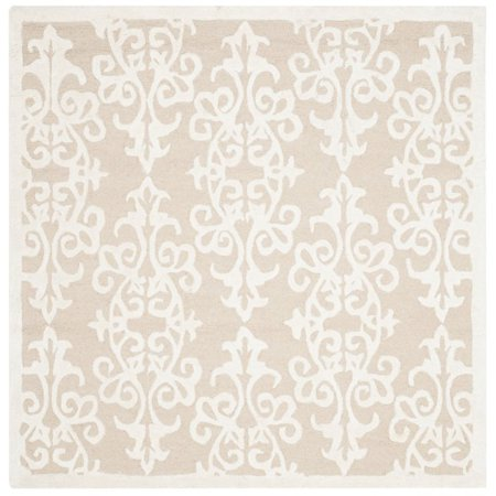Safavieh Bella 5' Square Hand Tufted Wool Rug in Sand and Ivory - image 1 of 1